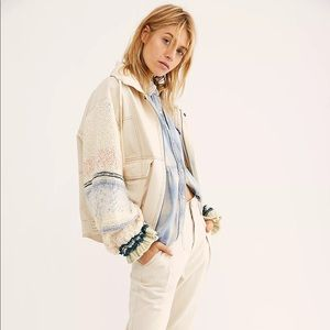 Free People Loose Thoughts Denim Jacket M NWT